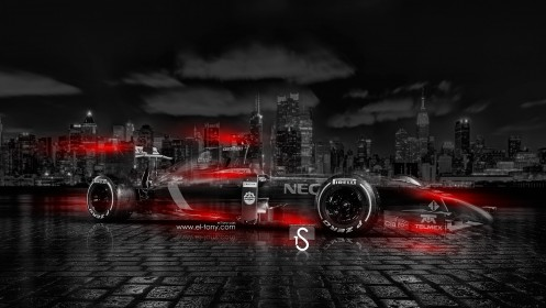 F1-Pirelli-Crystal-City-Car-2014-Orange-Neon-HD-Wallpapers-design-by-Tony-Kokhan-[www.el-tony.com]
