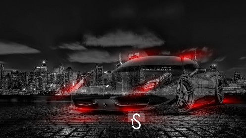Ferrari-458-Italia-Crystal-City-Car-2014-Orange-Neon-design-by-Tony-Kokhan-[www.el-tony.com]