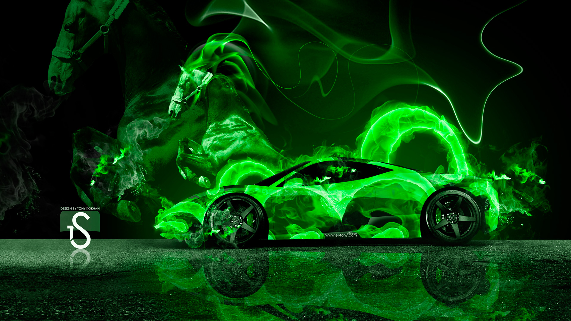 wallpaper green ferrari cars - photo #15