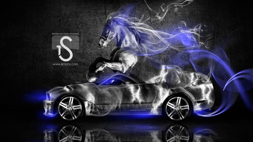 Ford-Mustang-GT-Fantasy-Horse-Smoke-Car-2014-Blue-Neon-design-by-Tony-Kokhan-[www.el-tony.com]