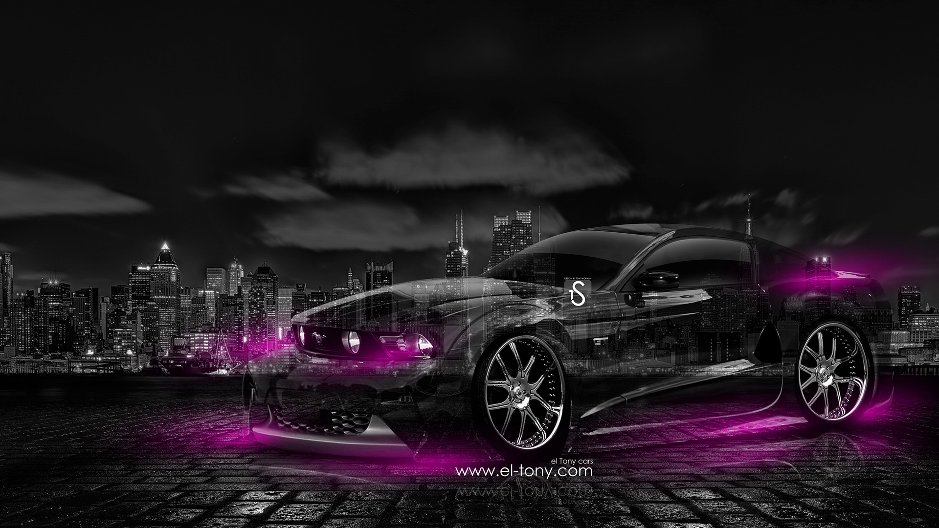 ford mustang gt muscle crystal city car 2014 - Mustang 2014 Purple