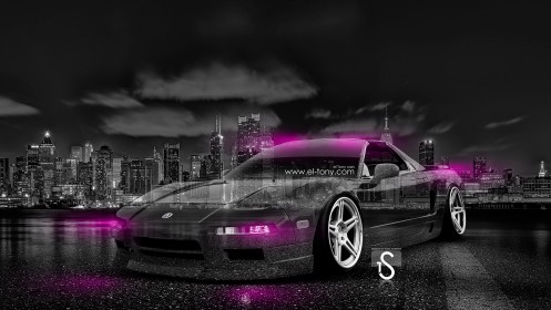 Honda-NSX-JDM-Crystal-City-Car-2014-Pink-Neon-HD-Wallpapers-design-by-Tony-Kokhan-[www.el-tony.com]