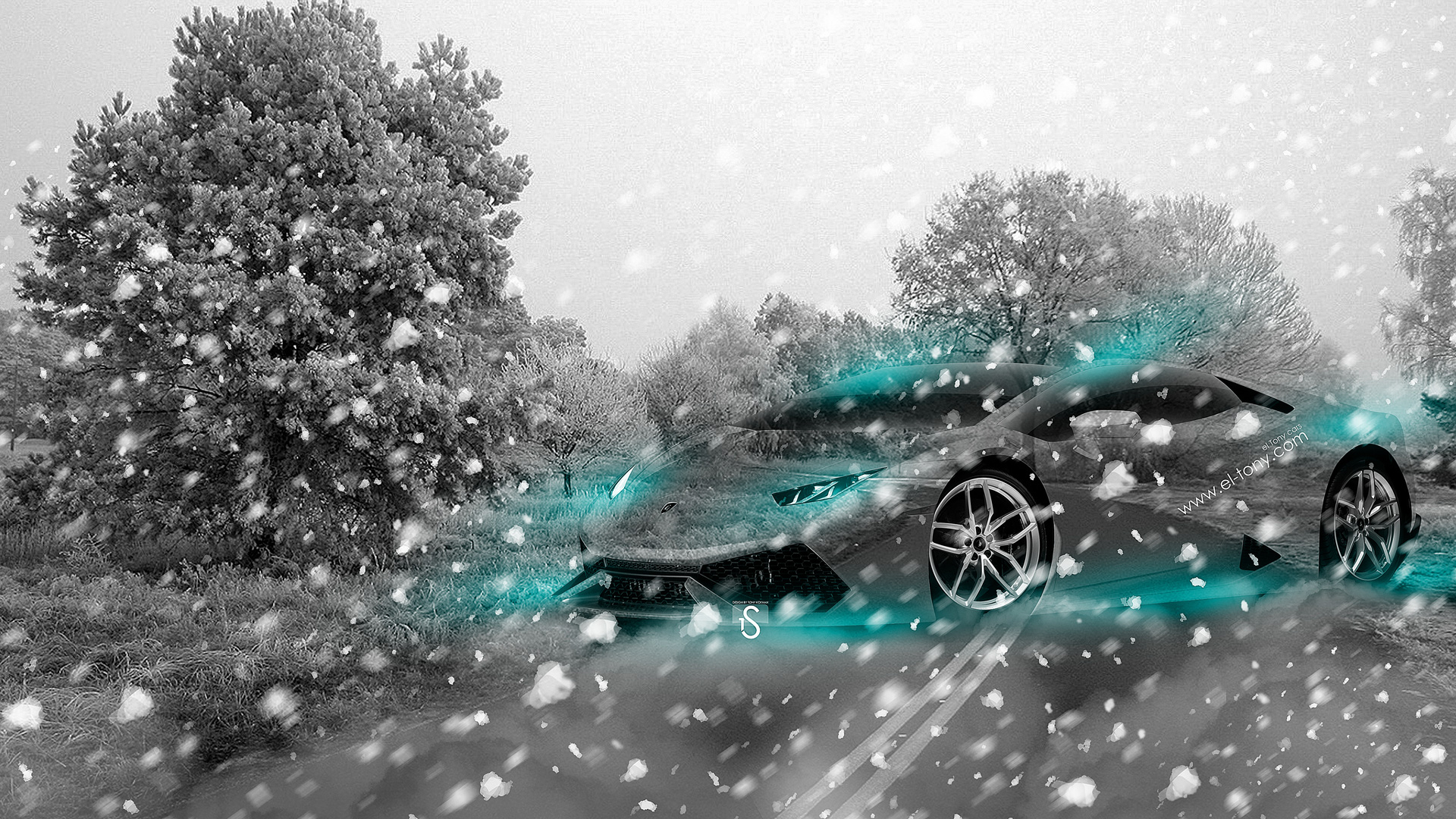 Lamborghini Huracan Crystal Nature Winter Car 2014 Azure