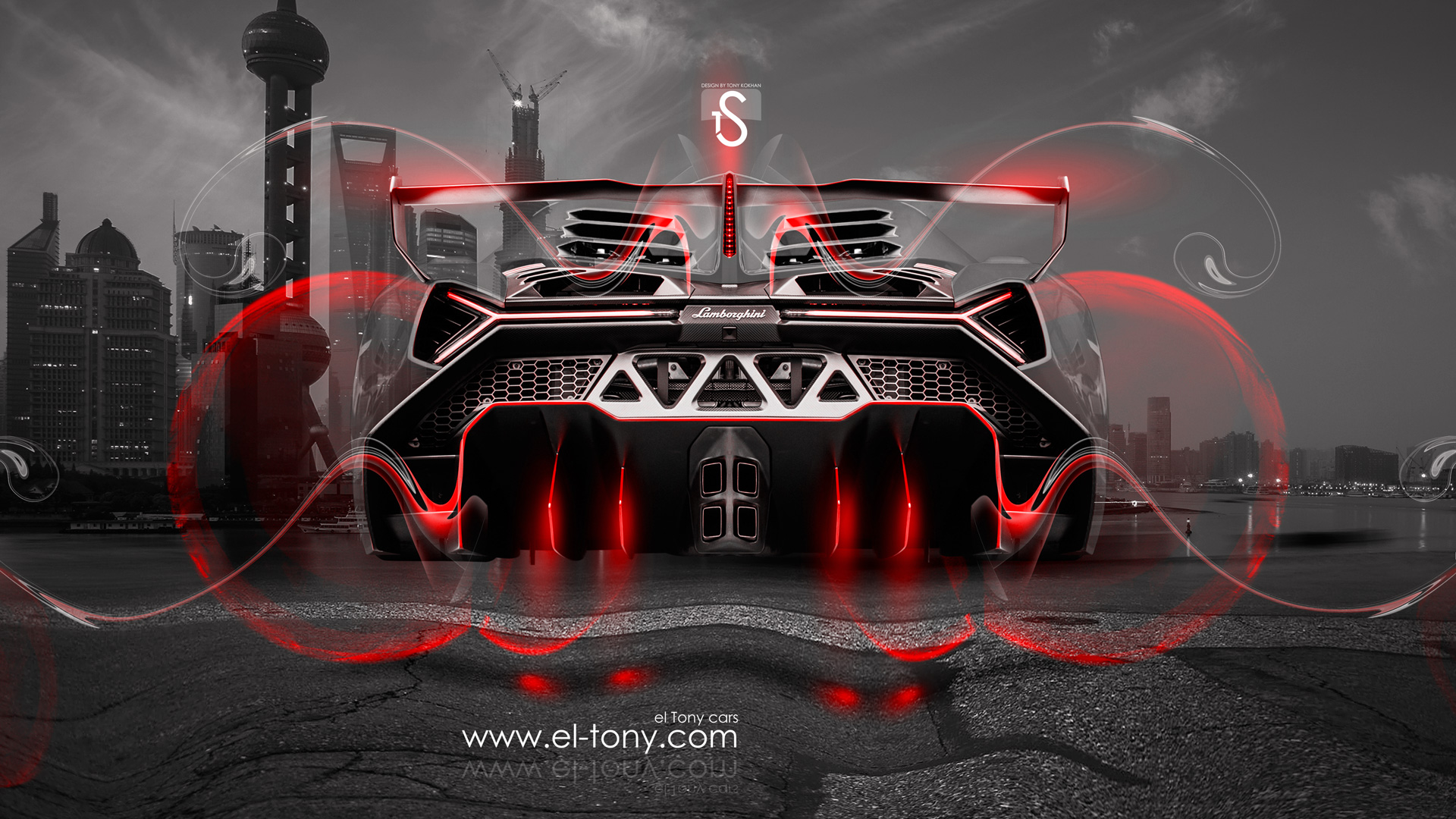 Attirant ... Lamborghini Veneno Fantasy Fly Crystal City Car 2014  ...