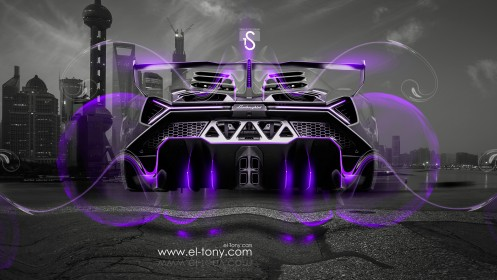 Lamborghini-Veneno-Fantasy-Fly-Crystal-City-Car-2014-Violet-Neon-design-by-Tony-Kokhan-[www.el-tony.com]