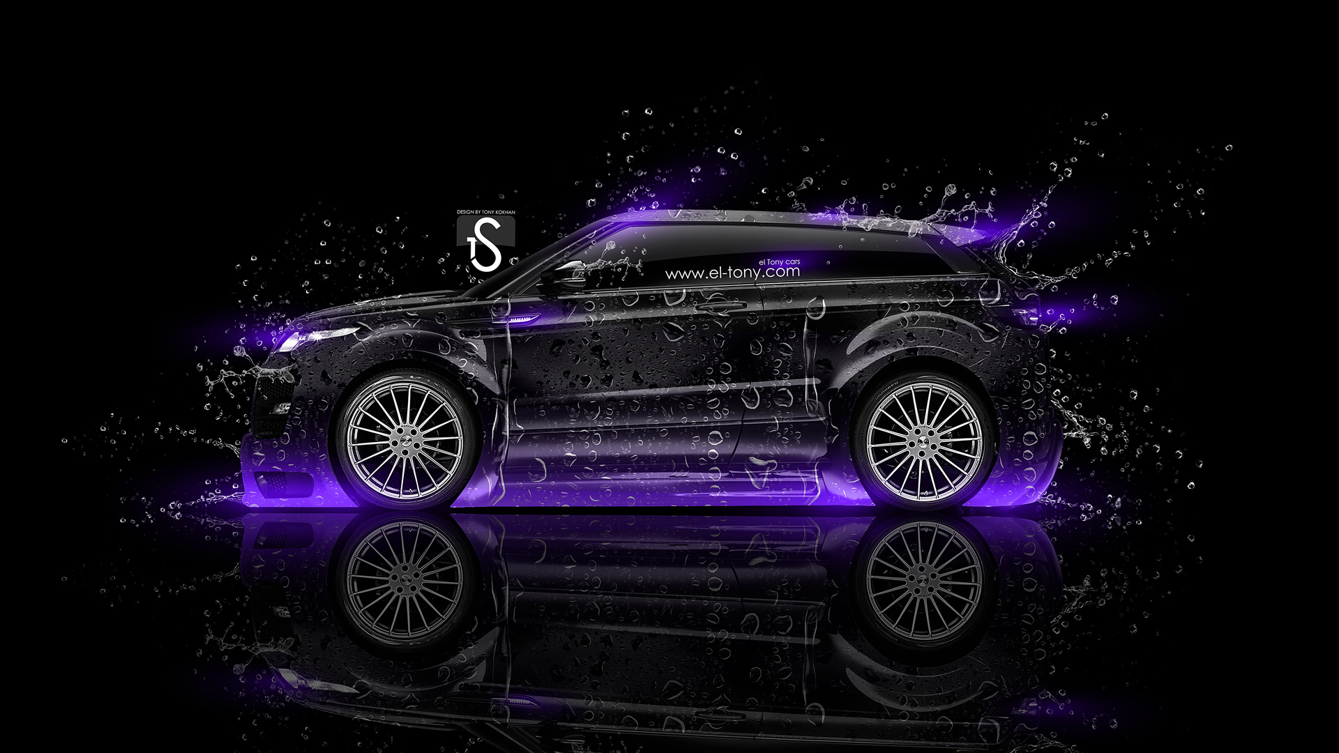 Land Rover Evoque Water Car 2014 Violet Neon