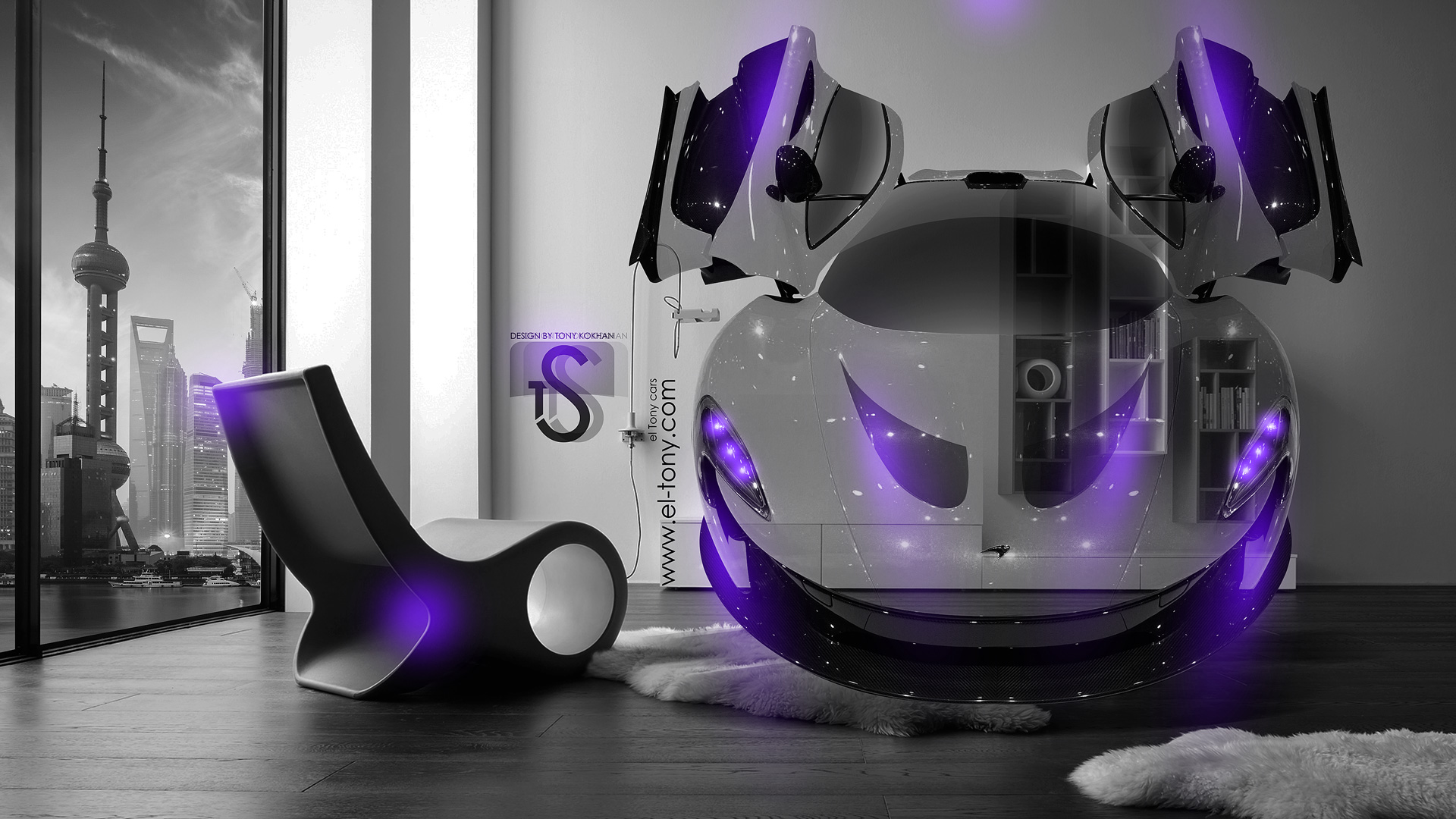 Charmant McLaren P1 Crystal Home Fly Car 2014 Violet