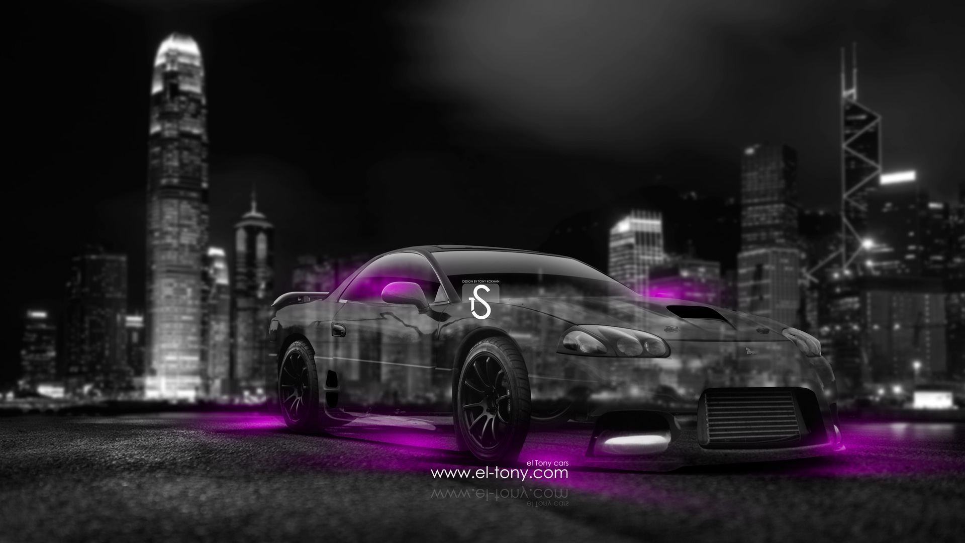 Mitsubishi-3000GT-JDM-Crystal-City-Car-2014-Pink-Neon-design-by-Tony-Kokhan-[www.el-tony.com]