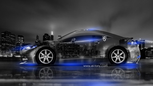 Mitsubishi-Eclipse-JDM-Crystal-City-Car-2014-Blue-Neon-design-by-Tony-Kokhan-[www.el-tony.com]