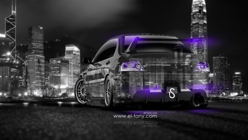 Mitsubishi-Lancer-Evolution-JDM-Back-Crystal-City-Car-2014-Violet-Neon-design-by-Tony-Kokhan-[www.el-tony.com]