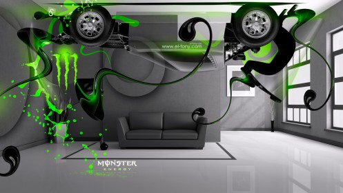 Monster-Energy-Lamborghini-Miura-Up-Home-Car-2014-Green-Neon-design-by-Tony-Kokhan-[www.el-tony.com]