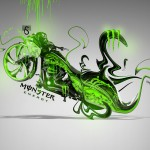 Monster Energy Moto Chopper Fantasy Plastic Bike 2014