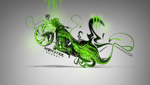 Monster-Energy-Moto-Chopper-Fantasy-Green-Plastic-2014-Green-Neon-design-by-Tony-Kokhan-[www.el-tony.com]