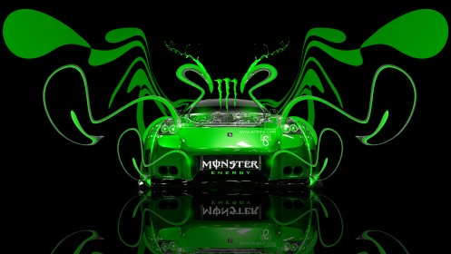Monster-Energy-Nissan-350Z-VeilSide-Plastic-Car-2014-Green-Neon-design-by-Tony-Kokhan-[www.el-tony.com]