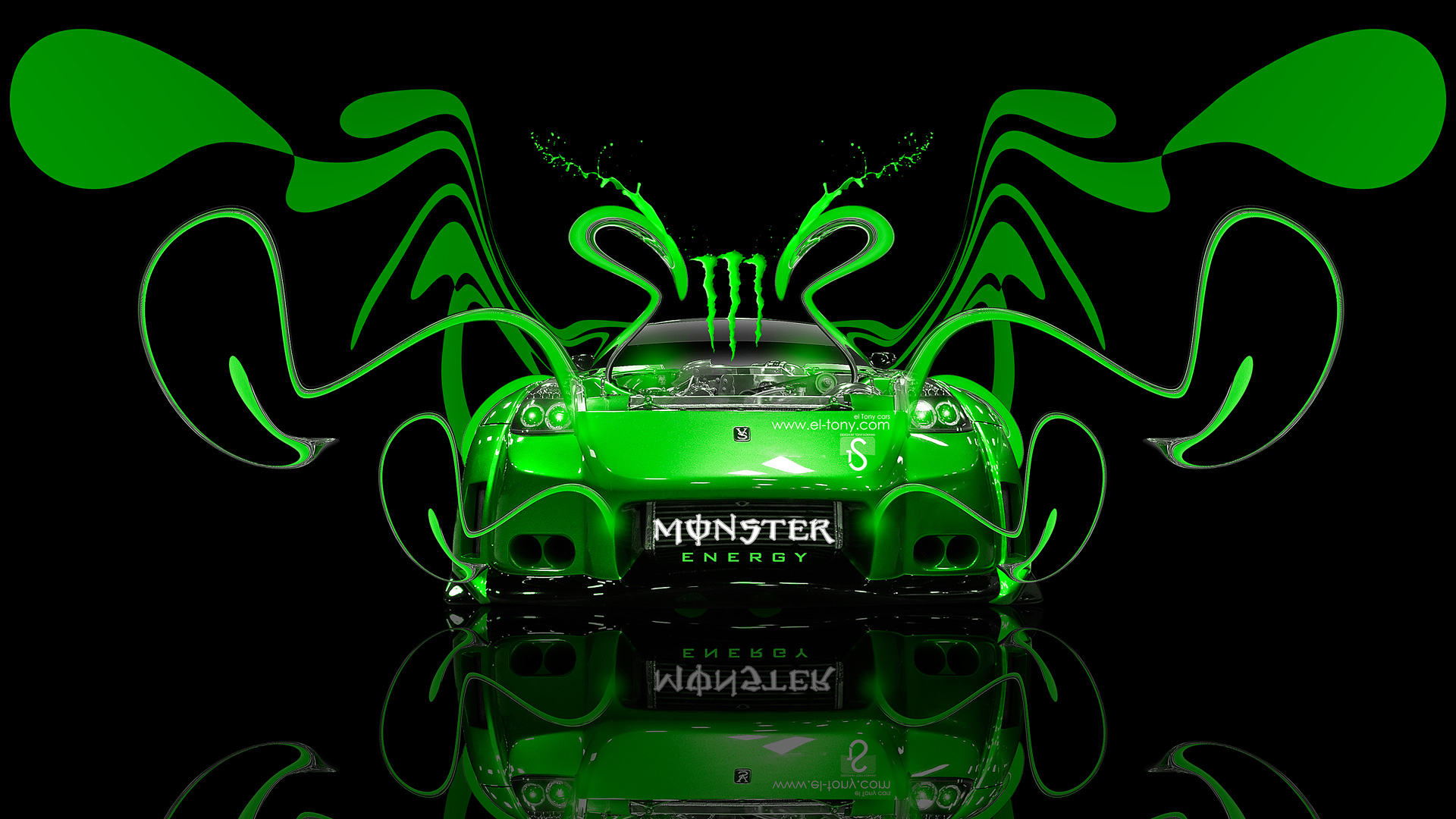 Monster Energy Nissan 350Z VeilSide Plastic Car 2014