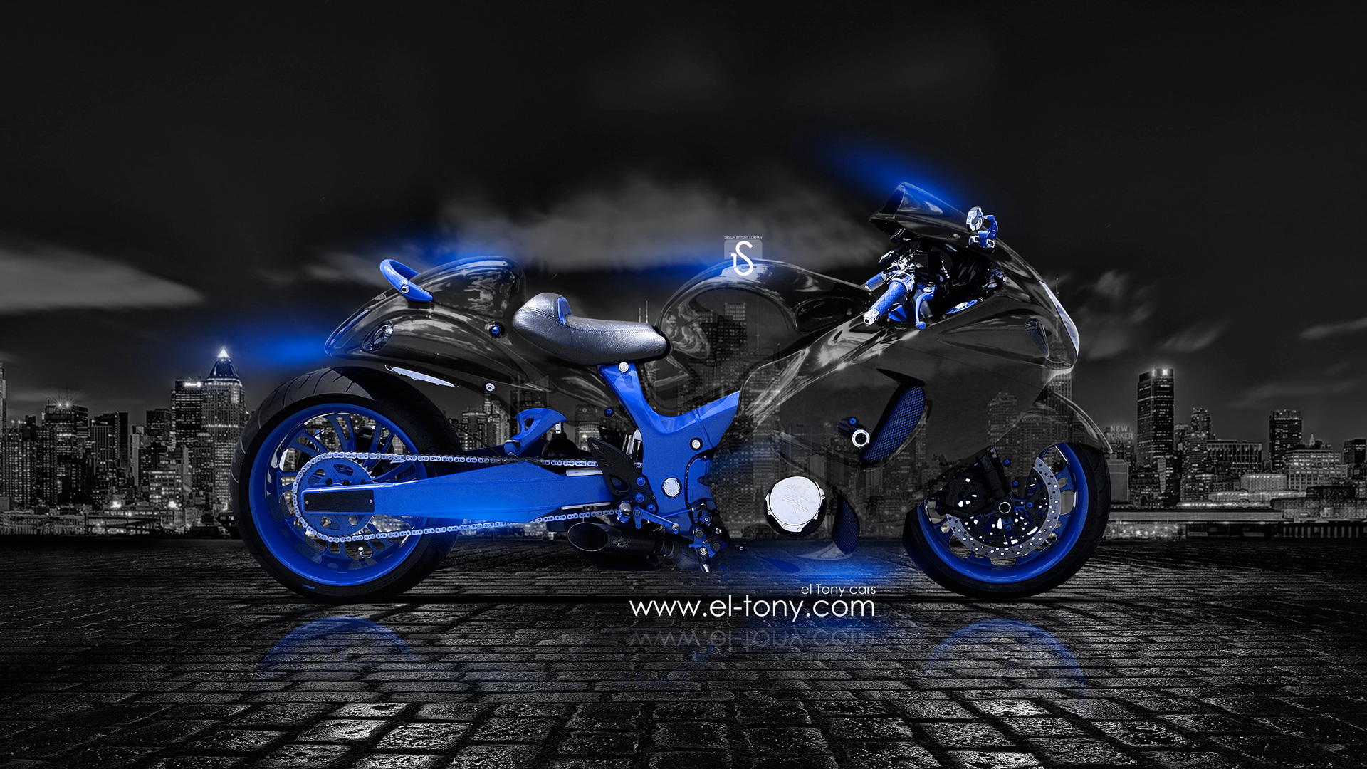 Ordinaire ... Moto Suzuki Hayabusa Crystal City Car 2014 Blue