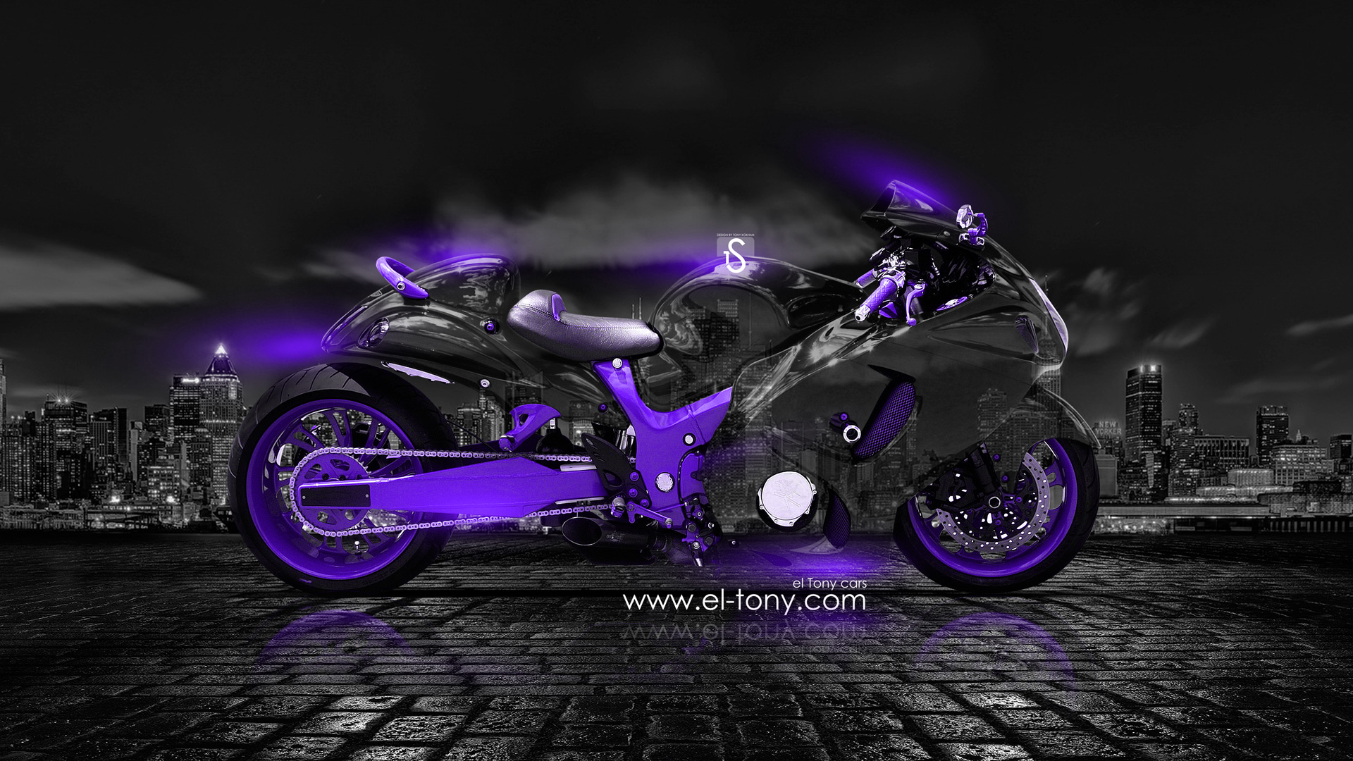 Captivating Moto Suzuki Hayabusa Crystal City Car 2014 Violet