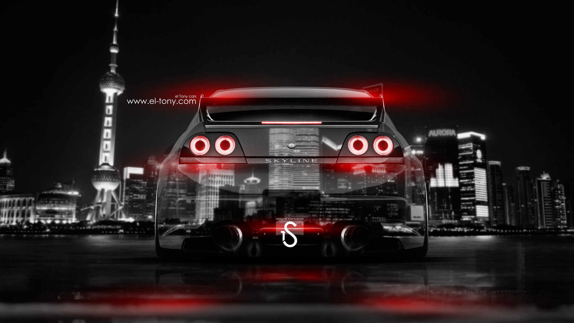 Nissan Skyline Gtr R33 Jdm Back Crystal City Car 2014 El