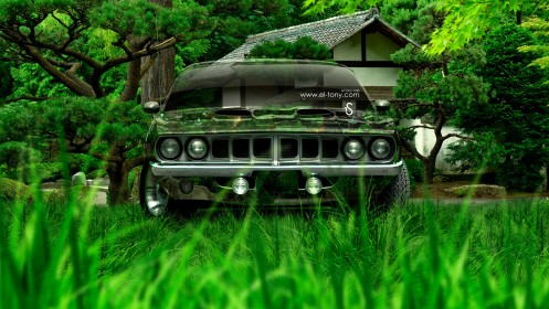 Plymouth-Barracuda-1971-Crystal-Nature-Car-2014-design-by-Tony-Kokhan-[www.el-tony.com]
