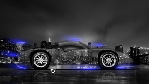 Porsche-911-GT1-Crystal-City-Car-2014-Blue-Neon-design-by-Tony-Kokhan-[www.el-tony.com]