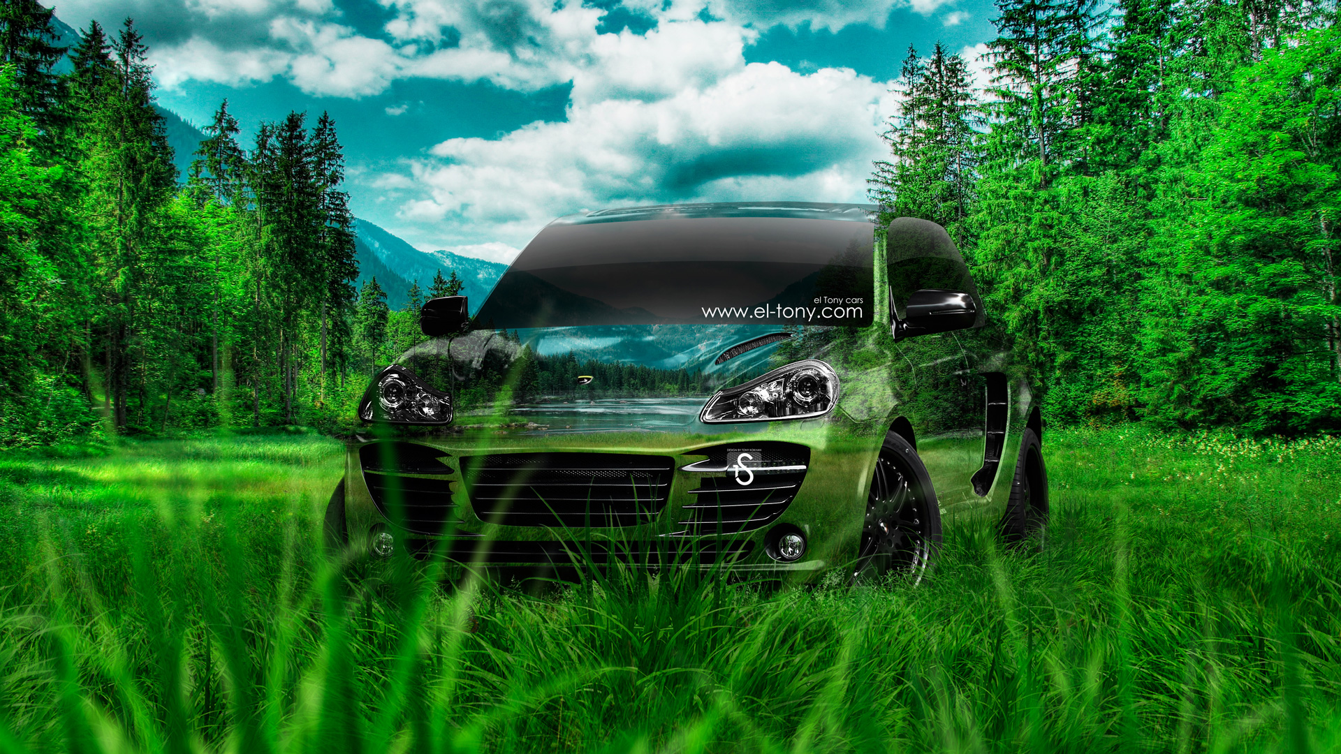 Merveilleux Porsche Cayenne Crystal Nature Car 2014 Design By