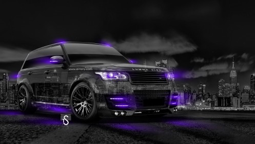 Range-Rover-Lumma-Crystal-City-Car-2014-Violet-Neon-HD-Wallpapers-design-by-Tony-Kokhan-[www.el-tony.com]