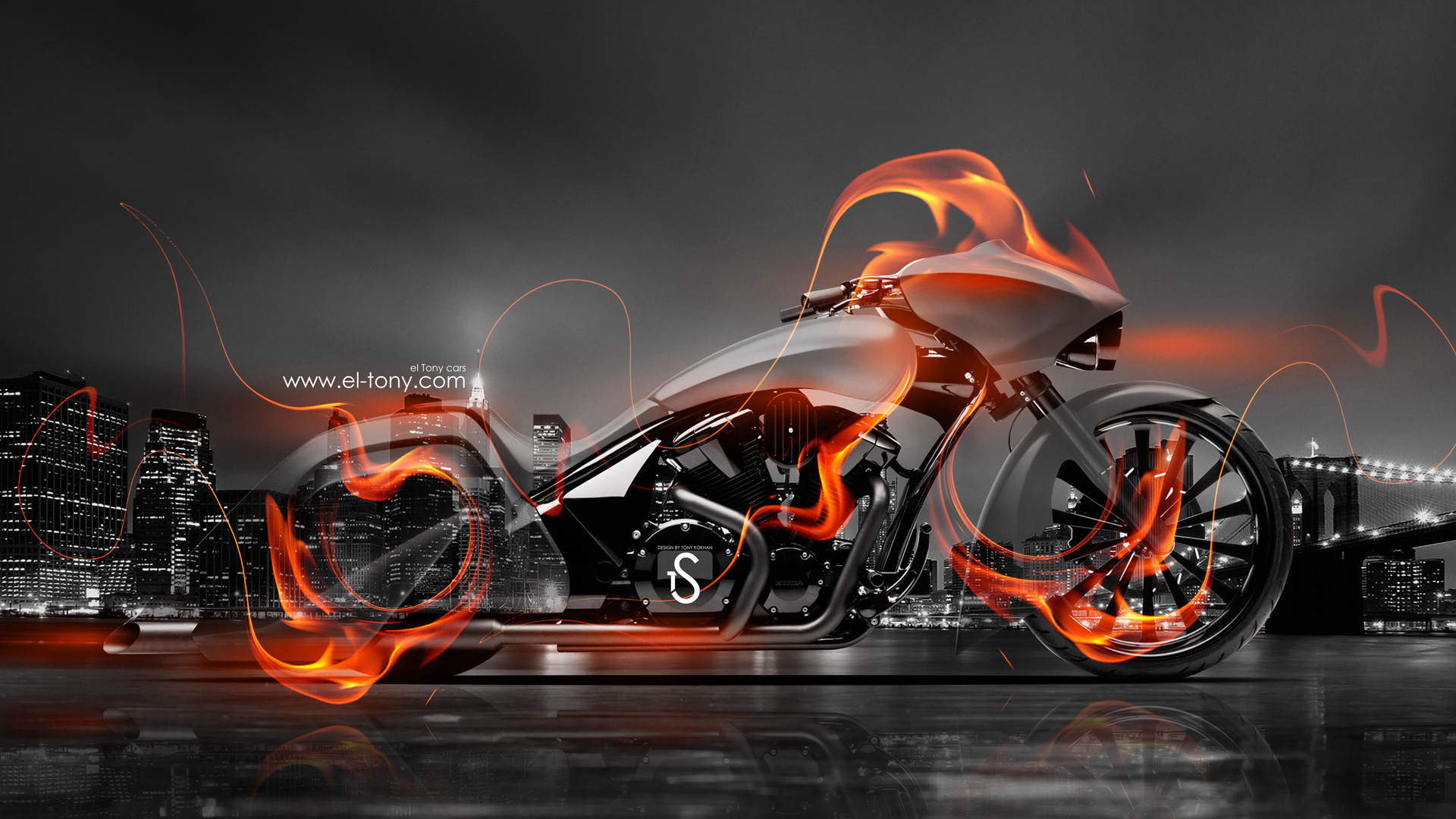 Merveilleux Super Moto Fire Crystal City Bike 2014 HD