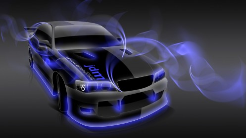Toyota-Chaser-JZX100-JDM-Simple-Photoshop-Sketch-2014-Blue-Neon-design-by-Tony-Kokhan-[www.el-tony.com]