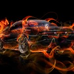 Toyota Mark2 JZX90 JDM Back Fire Abstract Car 2014