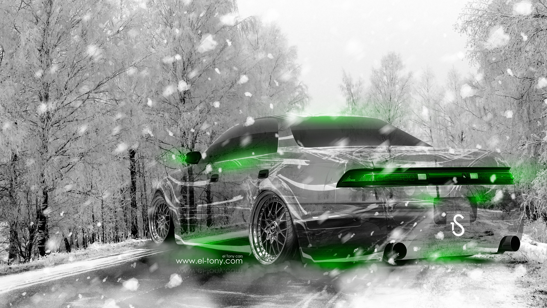 Toyota Mark 2 JZX90 JDM Crystal Nature Winter .