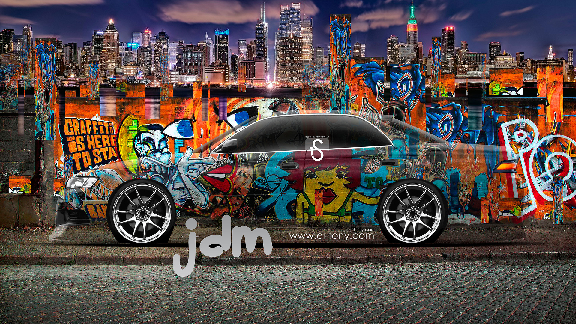 Exceptionnel Toyota Mark 2 JZX90 JDM Graffiti Crystal City
