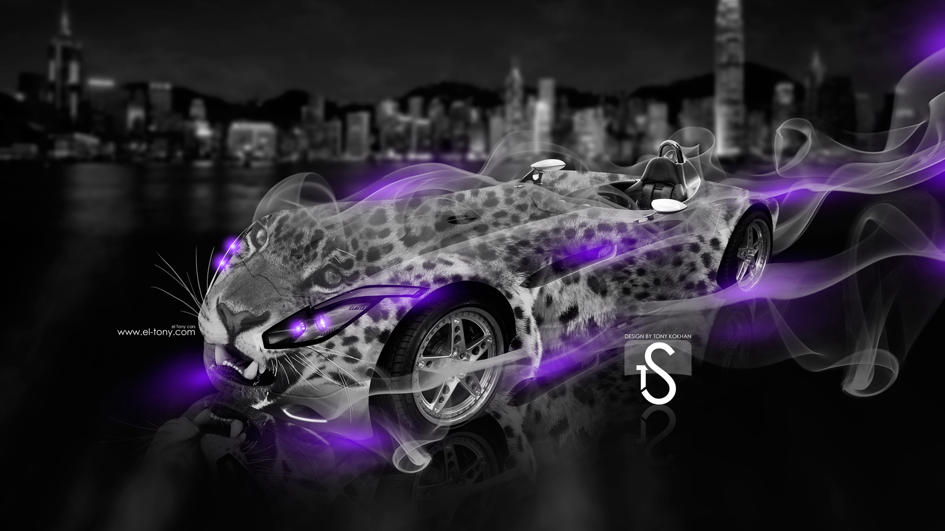Charming ... Veritas RS Fantasy Leopard Smoke Car 2014 Violet