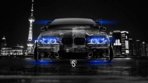 BMW-M5-E39-Tuning-Front-Crystal-City-Car-2014-Blue-Neon-design-by-Tony-Kokhan-[www.el-tony.com]