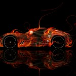 Bugatti Gangloff  Fire Abstract Car 2014