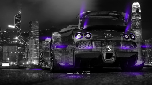 Bugatti-Veyron-Back-Side-Crystal-City-Car-2014-Violet-Neon-design-by-Tony-Kokhan-[www.el-tony.com]