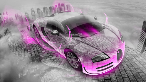 Bugatti-Veyron-Crystal-City-Up-Car-2014-Pink-Neon-HD-Wallpapers-design-by-Tony-Kokhan-[www.el-tony.com]