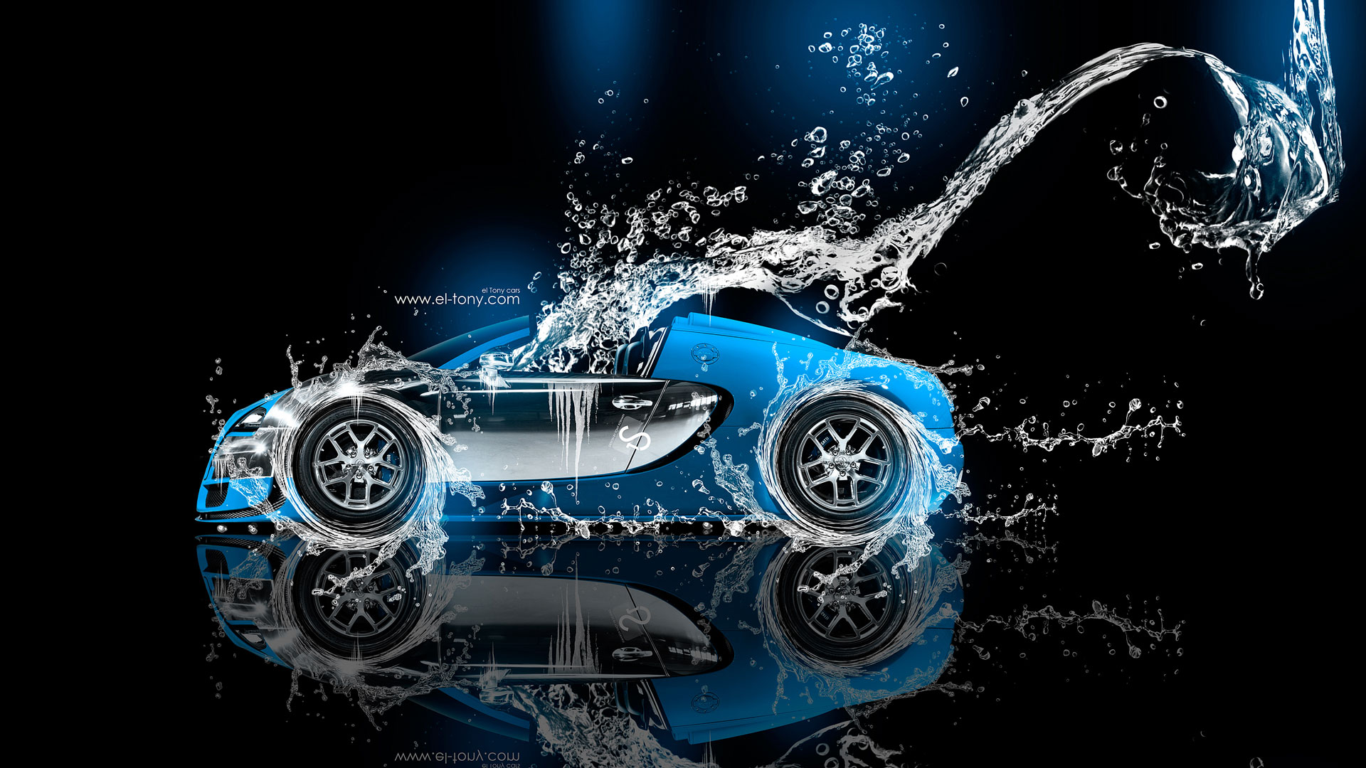 Great Bugatti Veyron Roadster Super Water Car 2014 Blue