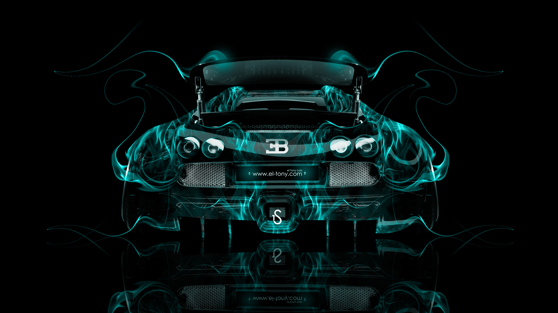 Ordinaire ... Bugatti Veyron Tuning Back Azure Fire Car 2014  ...