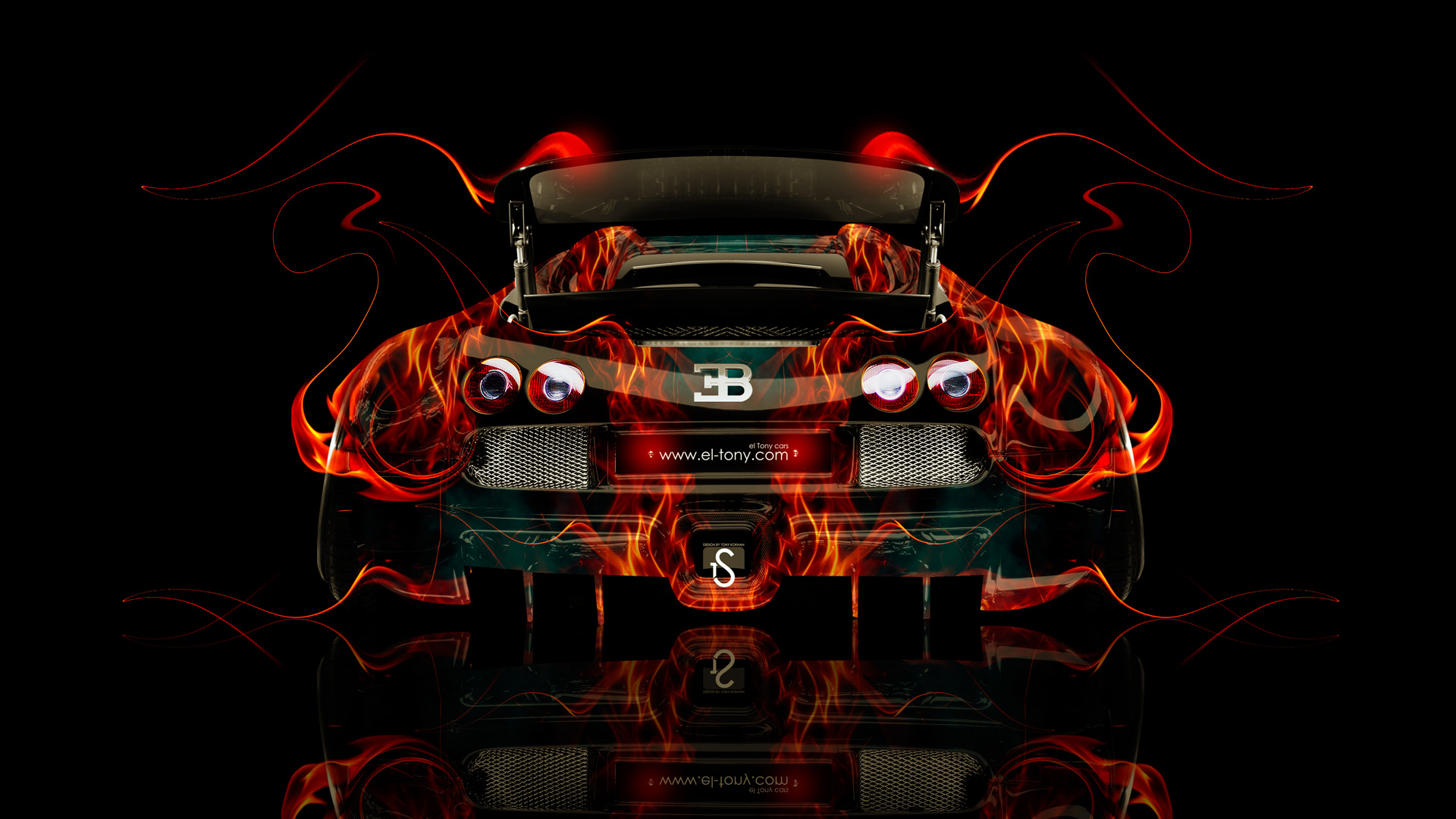 Etonnant Bugatti Veyron Front Fire Abstract Car 2014 · Bugatti Veyron Tuning Back Fire  Car 2014