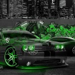 Dodge Challenger Muscle Crystal Graffiti Car 2014