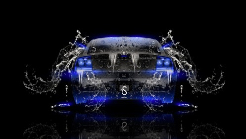 Dodge-Charger-SRT-Back-Water-Car-2014-Blue-Neon-design-by-Tony-Kokhan-[www.el-tony.com]