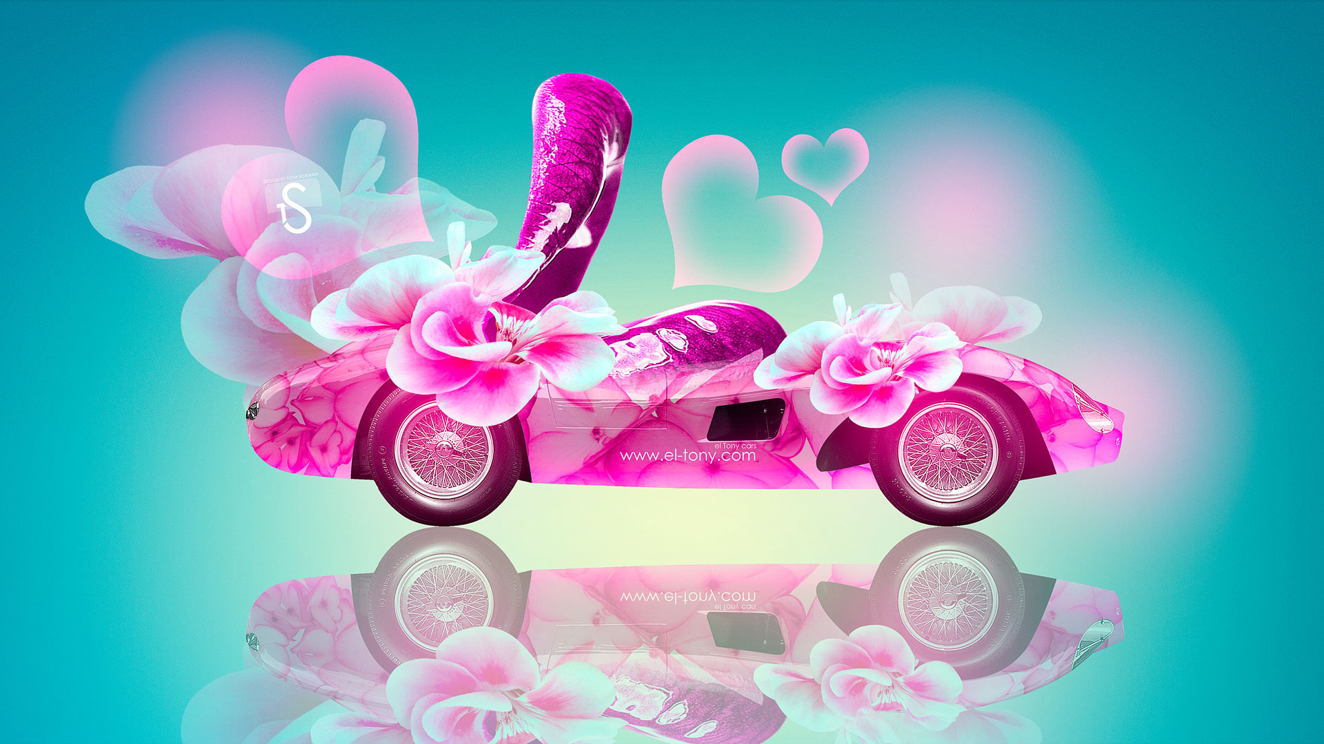 Bon Ferrari 500 Fantasy Lips Flowers Car 2014 Design