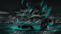 Ferrari-Laferrari-Fantasy-Crystal-City-Energy-Car-2014-HD-Wallpapers-Azure-Neon-design-by-Tony-Kokhan-[www.el-tony.com]