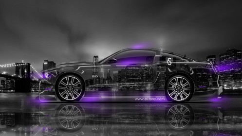 Ford-Mustang-GT-Side-Crystal-City-Car-2014-Violet-Neon-design-by-Tony-Kokhan-[www.el-tony.com]