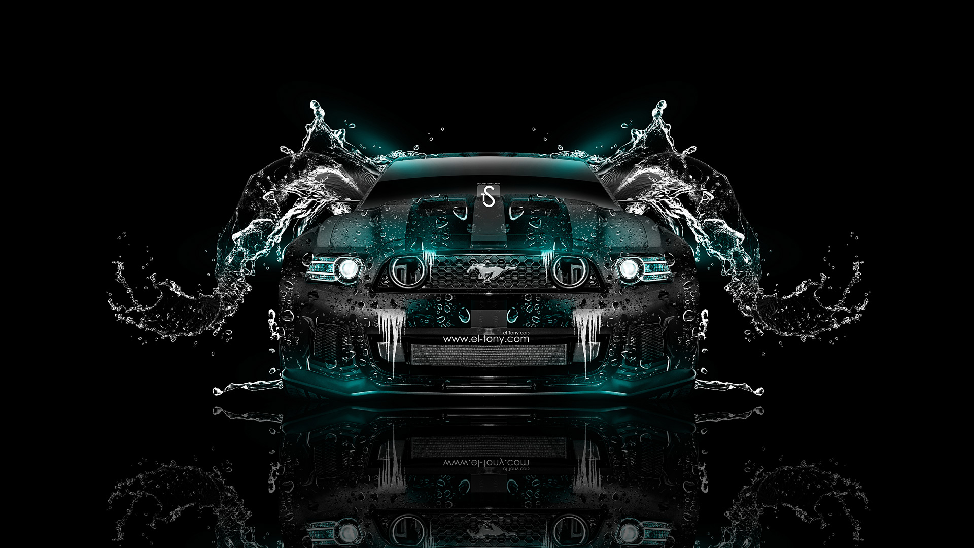 Ford Mustang GT Water Car 2014 Azure Neon  ...