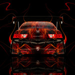 Honda Accord JDM Tuning Back Fire Car 2014