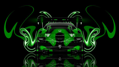 Honda-Accord-JDM-Tuning-Back-Plastic-Green-Abstract-Car-2014-HD-Wallpapers-design-by-Tony-Kokhan-[www.el-tony.com]