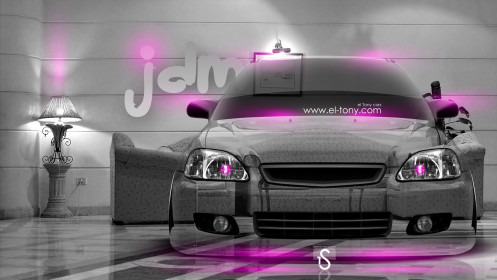 Honda-Civic-JDM-Crystal-Home-Car-2014-Pink-Neon-HD-Wallpapers-design-by-Tony-Kokhan-[www.el-tony.com]