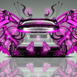 Honda Civic Type-R Back Fantasy Butterfly Car 2014