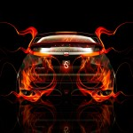 Honda Civic Type-R Back Fire Abstract Car 2014